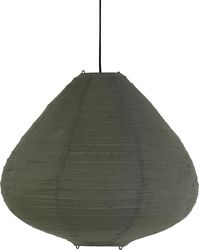 Hängelampe Laterne - Armeegrün - Stoff - 65cm - mit Deckenkappe - HK Living